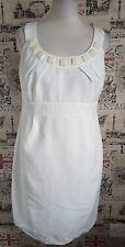 Principles Ivory Cream Embellished Pencil/Wiggle Dress size 14 UK