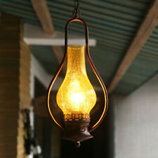 Vintage Kerosene Pendant Light Glass Iron Ceiling Fixtures Led Lamp Chandelier