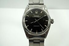 ROLEX 6241 SPEEDKING AMAZING BLACK GILT DIAL w./ SILVER PRINTING STEEL C. 1960