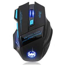 7 Buttons 2400DPI Wireless Optical Mice Adjustable Gaming Mouse For Laptop PC