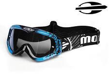 New Mormaii Model MX Mens Motorcycles Motocross Hand Painted Google Mask Blue