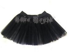 niña Negro 2 capas Bruja Gótico Falda Tutú JUERGA Disfraz de Halloween