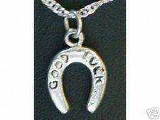 LOOK Sterling Silver 925 GOOD LUCK Horse Shoe Charm Pendant