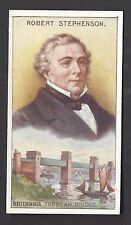 WHITFORD - INVENTORS - #14 ROBERT STEPHENSON, BRITANNIA TUBULAR BRIDGE