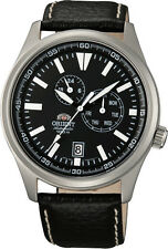 Orient FET0N002B Men's Defender Leather Band Multifunction Automatic Watch