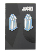 """Vintage ACME """" Cabana"""" Earrings by Architect Aldo Rossi NEW"""