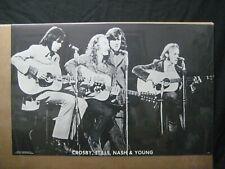 CROSBY, STILLS, NASH & YOUNG  VINTAGE POSTER GARAGE 1970'S  CNG1548