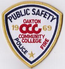 Oakton Community College Police/Fire Patch Public Safety Illinois IL NEW!!
