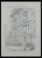 PARIS, MUSEE GUSTAVE MOREAU - 1898 - PLANCHE ARCHITECTURE - LAFON