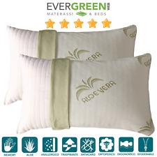 Evergreenweb - Coppia Cuscini Memory Foam da letto ottimi per Dolori...