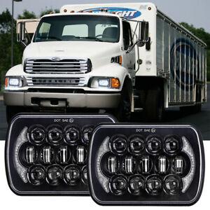 "Pair 7x6"" 5x7 LED Headlights Hi/Lo Beam DRL For Sterling Truck LT9500 1999-2008"