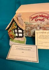 David Winter Cottages Spinners Cottage with Coa and Original Box