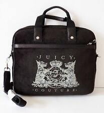 NWT Juicy Couture Scottie Bling Velour Laptop Bag ~ Black
