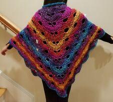 hand-crochet virus shawl with lion brand yarn