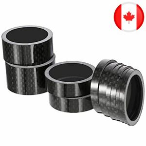 Sumind 11 Pieces Bike Carbon Fiber Headset Spacer Bicycle 1-1/8 Inch 20 15 10 5