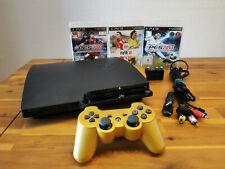 SONY PLAYSTATION 3 slim 120GB ► PS3 schwarz CONTROLLER & SPIELE ◄ GUTER ZUSTAND