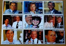 TV Television Drama The West Wing Kyrgrzstan 2002 Block Of Nine Stamps MNH