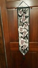 Southern Magnolia Tapestry Bell Pull Colorful Wooden Dowel Tassel  7.5x38
