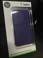 VÉRITABLE Belkin Grip Slim Soft Touch Case pour iPhone 6 Violet F8W604btC01