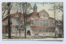 Old UDB postcard LECTURE HALL, CONCORDIA COLLEGE, FORT WAYNE, INDIANA