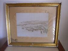 Photographie manoeuvre 1897 des chasseurs alpins revue du président Felix FAURE