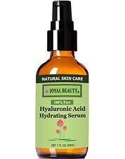 Hyaluronic Acid Hydrating Serum 100 % Pure All Natural Vegan Alcogol Free 1 oz