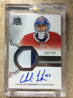16-17 UD The Cup ARP RPA Auto Rookie Patch #183 CHARLIE LINDGREN RC Rookie /249