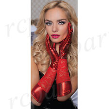 New Sexy intimates Women's lace gloves one size red gift valentine day 40113