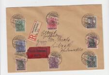 Sarre 1920, Enregistrée Express Housse Burbach à Lubeck, 275pf Nominale (