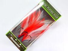 """Megabass - SLOWL FEATHER HOOK #2 RED WH <MAGSLOWL5"""" MAGDRAFT6"""" i-SLIDE135B&185>"""