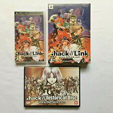 Enlace PSP. Hack // + conjunto de discos DVD histórico Sony Playstation Portable Japón jp