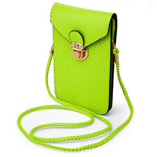 Women Mini Leather Purse Case Phone Pouch Crossbody Bag for Samsung Galaxy S10+
