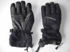 DAKINE Black Warm Leather Palm WINTER GLOVES Ski Snow Board Size Men's MEDIUM