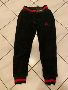 Air Jordan Men Fleece Sherpa Black Jogger Pants Mens S New