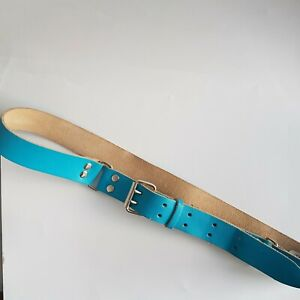 Blue Real Leather Belt Kid Child Belt 70-82 cms 27-32 inches