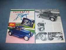 "1929 Ford Model A Roadster Pickup Vintage Street Rod Article ""Favorite Blues"""