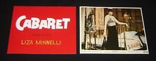 CABARET Liza Minnelli 1972 MOVIE LOBBY CARDS Title Card & #5 NM