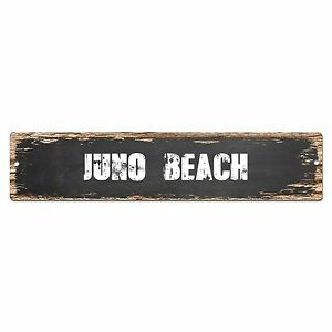 SP0346 JUNO BEACH Street Sign Bar Store Cafe Home Kitchen Chic Decor Gift