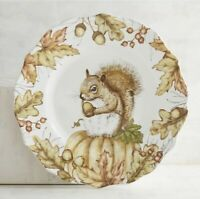 Pier 1 ~  MAZEY Critters SQUIRREL Salad Plate Fall Thanksgiving NEW