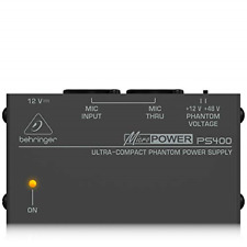 More details for behringer ps400 micropower phantom power supply