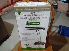 AVA FLUORESCENT DESK LAMP ECHO VISION NATURAL DAYLIGHT SPECTRUM LIGHTING