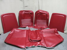 67 Mustang Standard Front Bench Seat Upholstery Reproduction Red