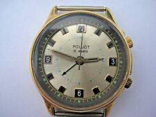 SOVIET RUSSIAN POLJOT SIGNAL ALARM&VIBRO Watch 18 Jewels