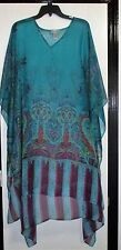 """LOVELY Catherines """"Sheer Paisley Abstract"""" Cape Jacket- SIze 00X/ ONE SIZE  NEW"""