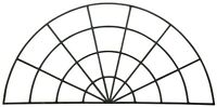 """Vintage Reclaimed Palladian Half Round Arched Leaded Glass Window Demilune 48"""""""