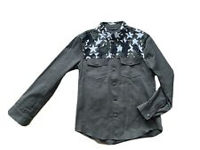Valentino khaki star camouflage rockstud shirt toilers in size L - RRP 1450,-