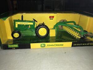 Ertl 1/16 Diecast John Deere 330 Utility Tractor With Hay Rake - NIB