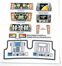 Kenner AST5 / AST-5 Vintage Star Wars replacement Sticker set +BONUS R2 STICKER