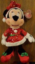Peluche / Plush Minnie 12 IN / 12 Pouces Disneyland Paris Noël / Christmas 2017