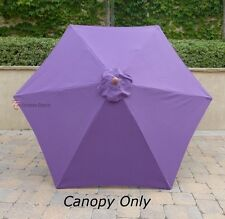 9ft Patio Outdoor Market Umbrella Replacement Canopy Cover Top 6 ribs. Purple